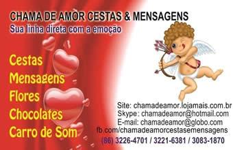Chama de Amor Cestas e Mensagens